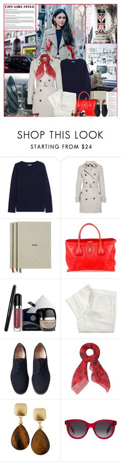 """""""City Girl Style: London"""" by kittyfantastica ❤ liked on Polyvore featuring Chinti and Parker, Burberry, HAY, Chanel, Marc Jacobs, Joseph, Marais, Alexander McQueen and Kenneth Jay Lane"""