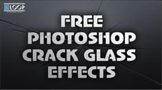 Free Photoshop Crack Glass Effects Template