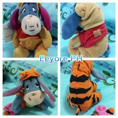 Eeyore + winnie the Pooh and  Eeyore + Tigger