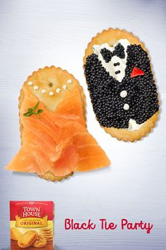 Wow... they dress up nice. Crisp oval Town House crackers and toppings are so delicious, they're sure to turn heads at your #BlackTie #HolidayParty.