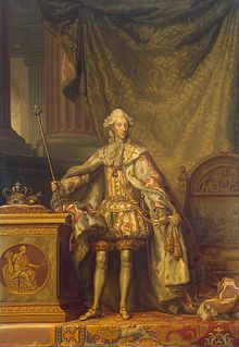 Christian VII of Denmark (1749 - 1808). Son of Frederick V and Louise of Great Britain. He succeeded his father as King.