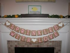 baby sprinkle decorations decor SPRINKLED with LOVE Banner - Shower decoration…