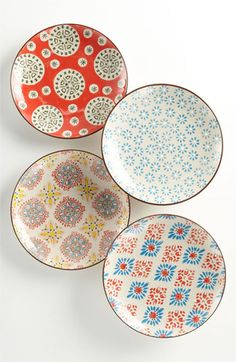 Chehoma Atelier d'Ambiances 'Bohemian' Plates (Set of 4) available at #Nordstrom