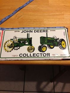 John Deere collector license plate new with tag size 6 x 12 #JohnDeere #CollectorLicensePlate #LicensePlate