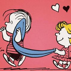 """""""Falling in love."""", Linus and Sally."""