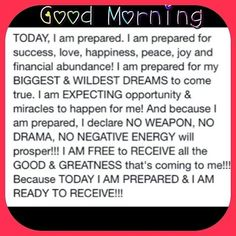 WOW! Positive morning affirmation