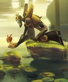 Prowl and Sari from Transformers Animated: