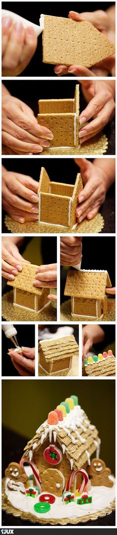 Cookie House DIY with kids