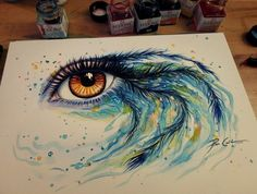 paintings of eyes with acrylic paint | Watercolor and Acrylic Paintings Of Eyes By Svenja Jödicke
