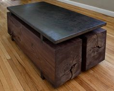 black walnut beams - coffee table