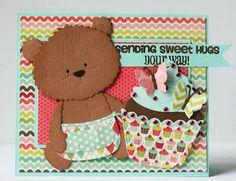 I scrap my way Sweet Hug, Album Scrapbook, Bear Card, Beautiful Sketches, Sending Hugs, Marianne Design, Basic Grey, Hug You, American Crafts