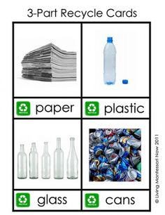 3-Part Recycle Cards for Earth Day -  Pinned by @PediaStaff – Please Visit http://ht.ly/63sNt for all our pediatric therapy pins