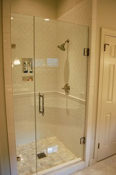 white subway tile - love the mix of layout of tiles