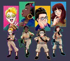 New Busters by Saturn-Kitty on Ghostbusters 2016, Kate Mckinnon, Ghost Busters, Comic Movies, Daddy, Fandoms, Kitty, Animation, Comics
