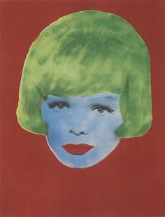 Martial Raysse - She, 1962, Fluorescent paint on... on MutualArt.com