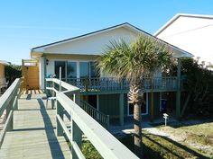 Sol Shine - Oceanfront 3 bedroom house in Carolina Beach, Pleasure Island Carolina Beach Boardwalk, Wilmington Beach, Nc Beaches, Ocean Front Homes, Best Cleaner, Grill Restaurant, Lake Park, Sliding Glass Door, Great View