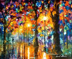 Trees Of Magic PALETTE KNIFE Contemporary door AfremovArtStudio