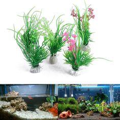 Artificial Plastic Plants Grass for Aquarium Fish Tank Ornament Decoration - Ornament Plants - Ideas of Ornament Plants