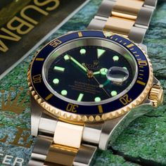 This blue dial steel & gold Sub has been super for over 25 yrs #16613 #submariner #rolex #rolexaholics #dailywatch #lovewatches…