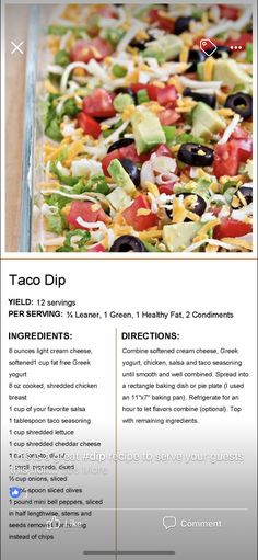 Mexican Food Recipes, New Recipes, Cooking Recipes, Favorite Recipes, Lean Protein Meals, Lean Meals, Healthy Snacks, Healthy Eating, Healthy Recipes