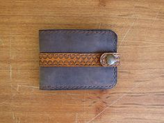 Leather Wallet ornament by PairOfHandsLeather on Etsy
