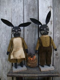 HARRY AND MAUDE  standing Rabbits Pattern pdf 107