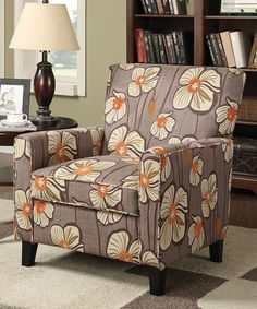 Another great find on #zulily! Gray Floral Armchair by  #zulilyfinds