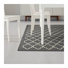 IKEA - HOVSLUND, Rug, low pile, Suitable for use underneath your dining table, as the flat-woven surface makes it easy to pull out… Rugs In Living Room, Home And Living, Room Rugs, Ikea Rug, Medium Rugs, Dark Grey Rug, Ikea Home, Buy Rugs, Types Of Rugs