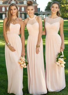 One of the biggest annoyances of being a bridesmaid comes down to one thing. Having to wear a dress that you do not like. These soft pink dresses will be love by any bridesmaid as their all a bit different.