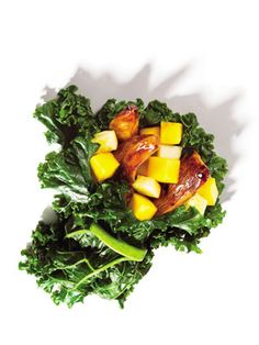 Slimming Superfood Recipe: Chicken Kale Wraps : Dinner in 10. Done. #SelfMagazine