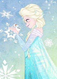 Elsa and olaf by emyartist Elsa Olaf, Frozen Love, Frozen Art, Frozen Elsa And Anna, Disney Frozen Elsa, Disney Pixar, Arte Disney, Disney Fan Art, Disney And Dreamworks