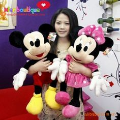 Free Shipping 2014 Hot Sale new 50CM 1PCS American Lovely Mickey Mouse Or Minnie Mouse Stuffed animals plush Toys As Gift #1687