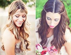 15 Gorgeous Ways To Wear Your Hair Down For Your Wedding via @byrdiebeauty