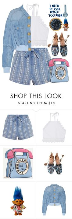 """Call me..."" by doga1 ❤ liked on Polyvore featuring Splendid, Front Row Shop, Aquazzura and Balmain"