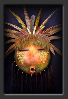 Southwest Gourd Mask Kiona by Dave Sisk
