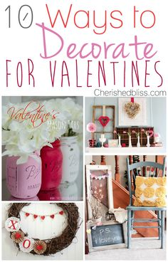 Valentine's Day is on it's way! I'm still in a bit of shock we are now headed through 2014, but it is in fact here! So I gathered up 10 beautiful ways to Decorate for Valentines Day this year!   So let's jump in and see what there is! Be sure and visit these lovely... Read More »