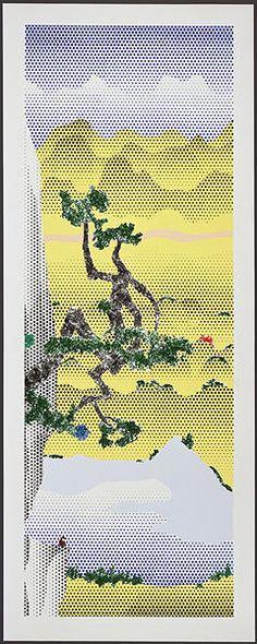 Roy Lichtenstein, Landscape with Poet , 1996, Upsilon Gallery