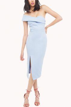 light blue one shoulder dress