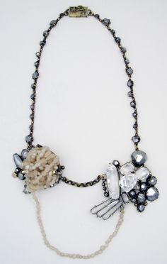 NIKKI COUPPEE-USA - tangled pearls-necklaces-steel,plexiglass,polymer clay-2010