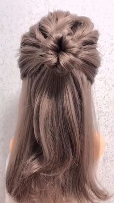 Bun Hairstyles For Long Hair, Fast Hairstyles, Weave Hairstyles, Hairstyles Videos, Office Hairstyles, Anime Hairstyles, Stylish Hairstyles, Flower Hairstyles, Braided Hairstyles Tutorials