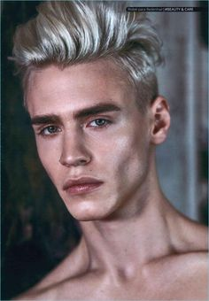 male halloween costumes Mejor Versin De Ti Mismo: Oliver Stummvoll for Risbel Magazine Runway Hair, Runway Makeup, Male Makeup, Models Makeup, Makeup For Men, Makeup Lips, Angular Face, Magazine Man, Face Reference