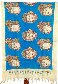 Kalamkari Dupatta - Design 107