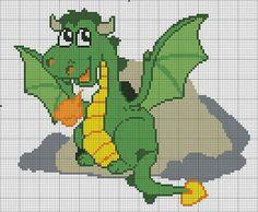 Dragon Cross Stitch, Geek Cross Stitch, Beaded Cross Stitch, Cross Stitch Animals, Counted Cross Stitch Patterns, Cross Stitch Charts, Cross Stitch Designs, Cross Stitch Embroidery, Bordados E Cia