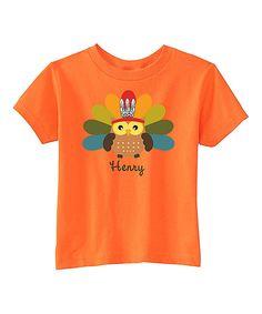 Look what I found on #zulily! Preppy Mama Orange Turkey Owl Personalized Tee - Infant, Toddler & Kids by Preppy Mama #zulilyfinds