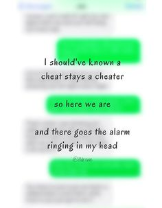 Should've known a cheat stays a cheater. And there goes the alarm. Anne-Marie -- Alarm song lyrics Visit the post for more.