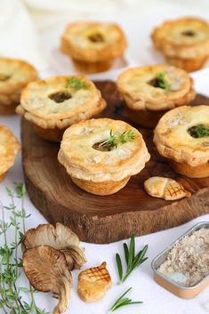 How darling are these mini mushroom and goat cheese pies? Get the recipe: mini wild mushroom and goat cheese pies Mushroom Pie, Mushroom Recipes, Mushroom Hunting, Cheese Pies, Goat Cheese, Baked Cheese, Mini Pie Recipes, Cooking Recipes, Savory Pie Recipe