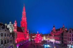 Catherine Open Space, Brussels - UIG via Getty Images Christmas Images, Christmas Lights, Christmas In Europe, Travel Information, European Travel, Holiday Travel, Christmas Traditions, Light Decorations, Travel Style