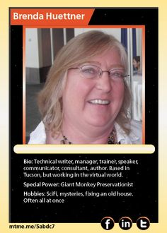 Technical writer, manager, trainer, speaker, communicator, consultant, author. Based in Tucson, but working in the virtual world.
