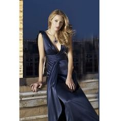 satin gossip girl dress