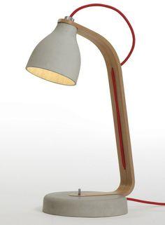 #concrete desk #lamp with fixed arm HEAVY DESK by Decode London | #design Benjamin Hubert @decodelondon